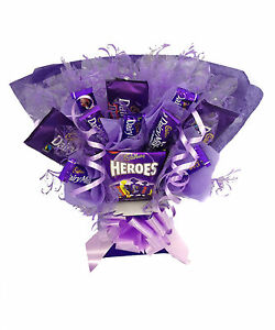 Valentines Day Cadbury Dairy Milk Chocolate Sweet Tree Bouquet Hand