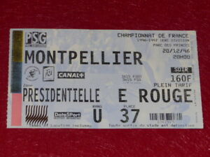 COLLECTION-SPORT-FOOTBALL-TICKET-PSG-MONTPELLIER-20-DEC-1996-Champ-France