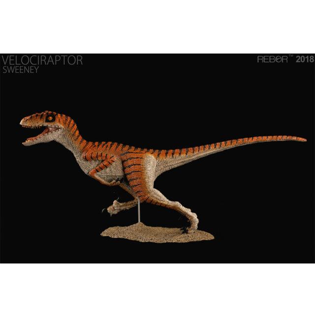REBOR Velociraptor Alex DeLarge 1:18 Scale Dinosaur Figurine