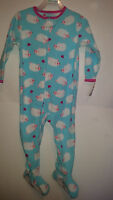 Child Of Mine Toddler Girl's Pajama One Piece Fleece Size 24m Sheep