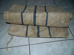 Antique Hemp homespun canvas European grain sack bag hemp old linen 1800's blue