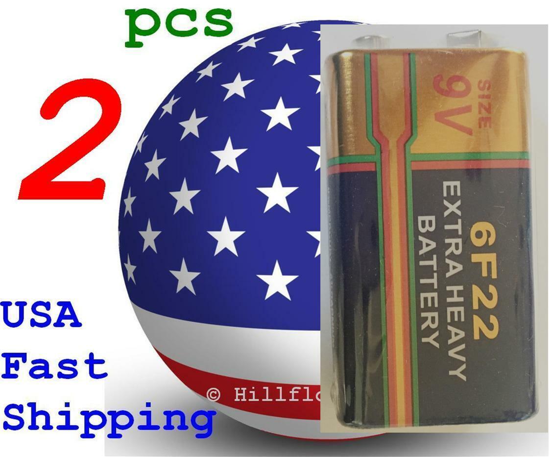 2 piece 6F22 6LR61 9V Extra Heavy Duty Bulk Battery Zinc Carbon