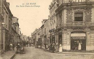 Carte postale bureau de tabac le mans rue saint pavin des champs