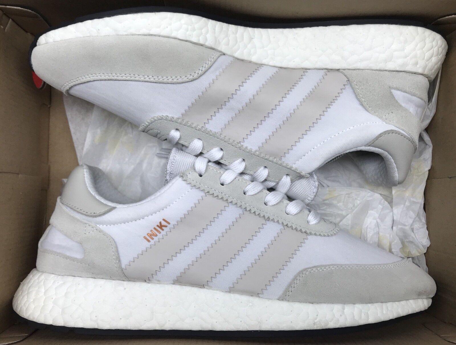 Adidas Iniki Runner Pearl Grey White Ultra Boost BB2101 Sz 10