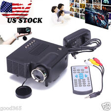 HD 1080P LED LCD Multimedia Mini Projector Home Theater Cinema VGA HDMI USB SD