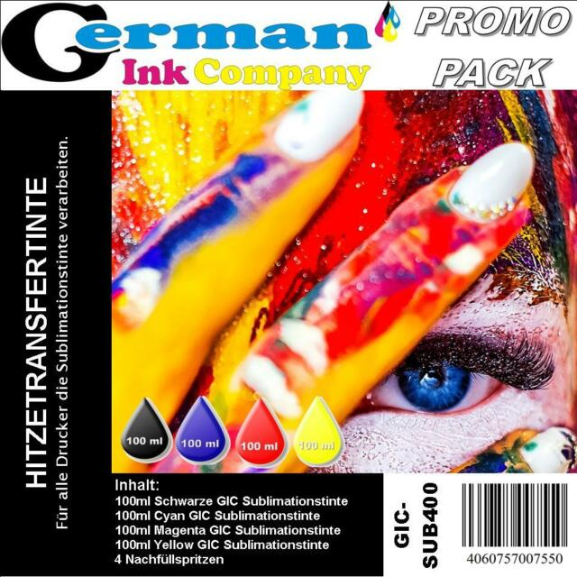 400ml German Ink Company Sublimationstinte Promopack - BCMY