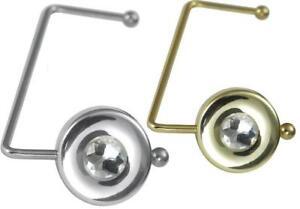 DAS ORIGINAL AUS DEM TV: 2er Set Handtaschenhal<wbr/>ter | Taschenhaken gold & silber
