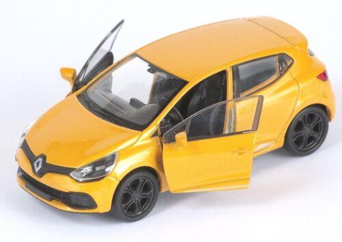 BLITZ VERSAND Renault Clio RS gelb yellow 1:34-39 Welly Modell Auto NEU /& OVP