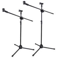 Microphone Stand Dual Mic Clip 90-degree Rotating Folding Type Boom Arm Tripod