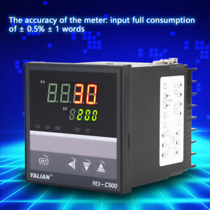 AC100-240V Digital PID Temperature Controller REX-C900 Thermocouple Relay Output