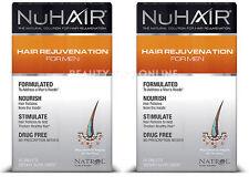 2X NuHair Hair Rejuvenation for Men Hair Regrowth Natrol Nu Hair 60 Tabs 2-Pack