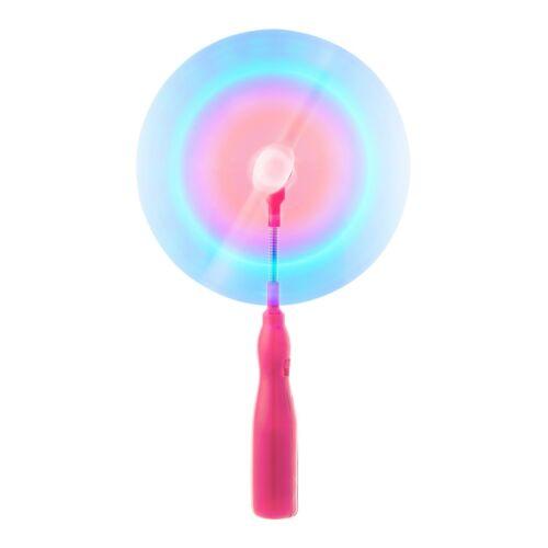 1 Pink Flashing LED Spinning Windmill Light Up Toy Music Glow Wand Windmills