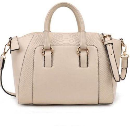 New Women Fashion Shoulder Bag Faux Leather Satchel Cross Body Tote Handbag JB