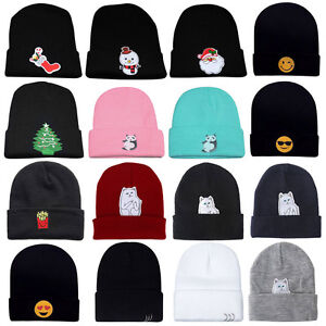 Winter-Men-039-s-Women-039-s-Hat-Unisex-Warm-Winter-Knit-Cap-Hip-hop-Skull-Beanie-Hat