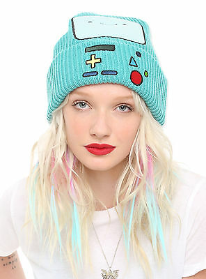 CUTE NWT ADVENTURE TIME BMO BEEMO FACE WATCHMAN KNIT WINTER BEANIE SKI HAT