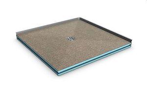 Bodengleiche duschwanne 90x120  Duschelement 120x90 Dusche 90x120 Boden befliesbar barrierefrei ...