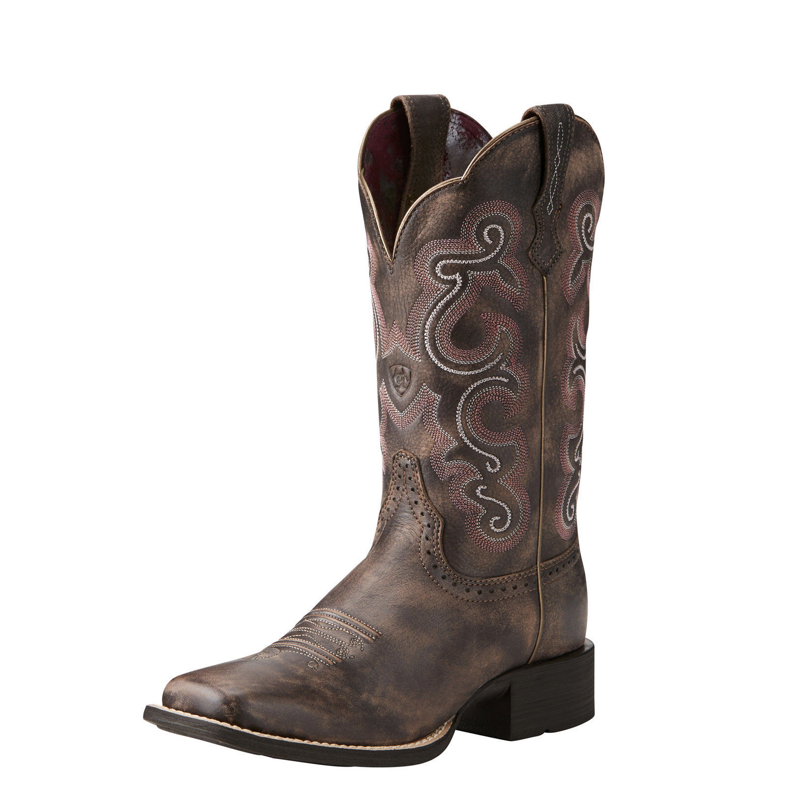 Ariat 10021616 Quickdraw 11  Tack Room Chocolate Wide Square Toe Cowgirl Boots