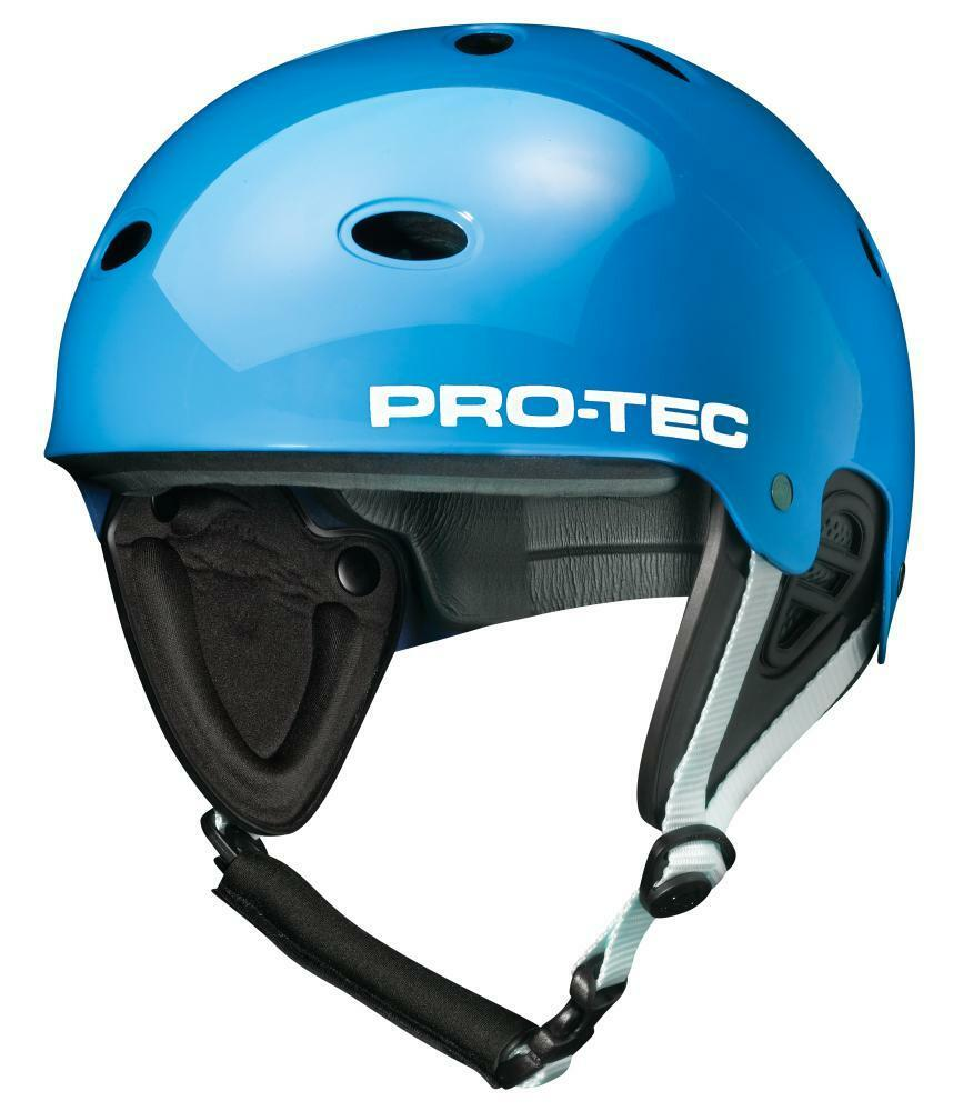 ProTec B2 Wake Watersports Helmet Gloss bluee choice of sizes with ear predector