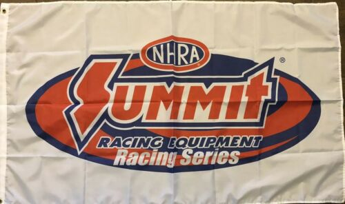 NHRA Summit Racing Flag 3x5 White Banner Racing Equipment Series