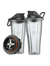 Vitamix Blending 20 oz. Cups Starter Kit with Blade Base and Lids