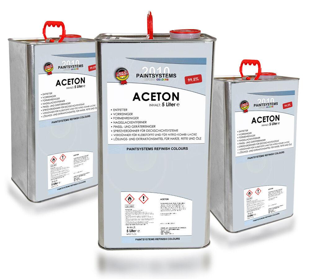 ACETON rein 99,5%, 3x 5L - Verdünner Reiniger Entfetter Lösungmittel