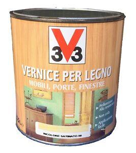 Vernice per legno 0 25l v33 mobili porte finestre varie tinte disponibili ebay - Vernice per finestre in legno ...