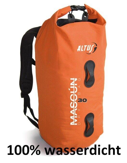 Wasserdichter Rucksack Rollbeutel Rolltop MASCUN 30 Liter  Orange