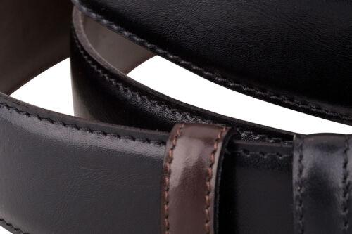 Reversible Leather Belt Strap Men/'s belts buckles Black Brown Casual waist 34 mm
