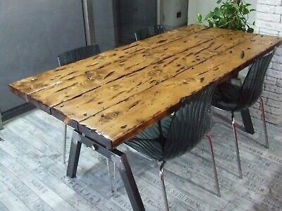 Tavoli Allungabili Legno E Ferro.Tavolo Vintage Industriale Ferro E Legno Lavorati A Mano Made In
