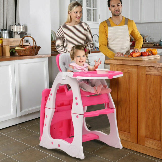 Chair Seat Booster High Baby Feeding Toddler Portable Infant Folding Table