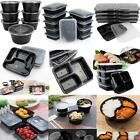 10/20/50 Rectangle Round Meal Prep Container Microwavable Food Storage Lunch Box