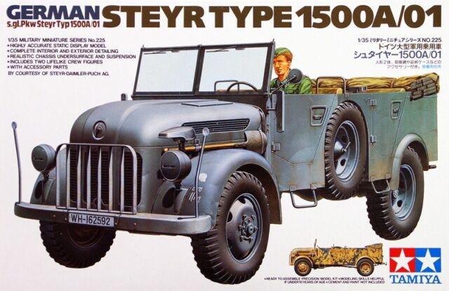 2 Tamiya 300035235–1 35WWII German Steyr Type 1500A Kommandeur
