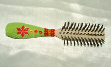 Hairbrush w/ Beaded Handle  Native American Bead work New #01