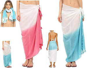 ebdf340f803a3 Echo Women s Scarves Design Ombre Tassel Pareo Pacific Teal or ...