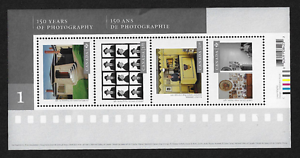Canada-Stamps-Souvenir-Sheet-Art-150-Years-of-Photography-2627-MNH