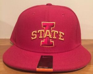 info for 59ce6 a3dcb Image is loading NIKE-TRUE-IOWA-STATE-CYCLONES-VAPOR-FITTED-CAP-
