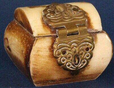 Vintage Chinese Bone Pill Trinket Box 35 X 30mm 16211 Ebay