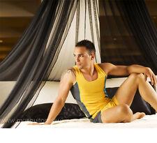 Negro Mosquitera Calidad Superior estilo resort Cama dosel-Talla única Camas