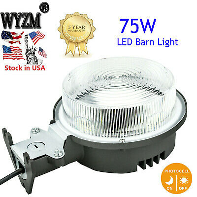 Dusk to Dawn 75W LED Barn Outdoor Security Lights with Photocell Area Lighting