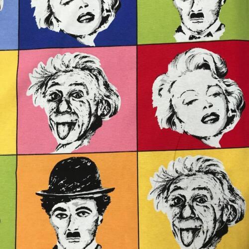 Marylin Clásico Charlie Chaplin Einstein mezcla de poliéster algodón 140cm material de la tela