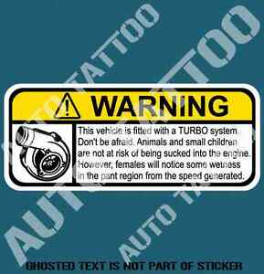 TURBO-ON-BOARD-WARNING-DECAL-STICKER-HOT-ROD-DRIFT-WARNING-DECALS-STICKERS-130mm