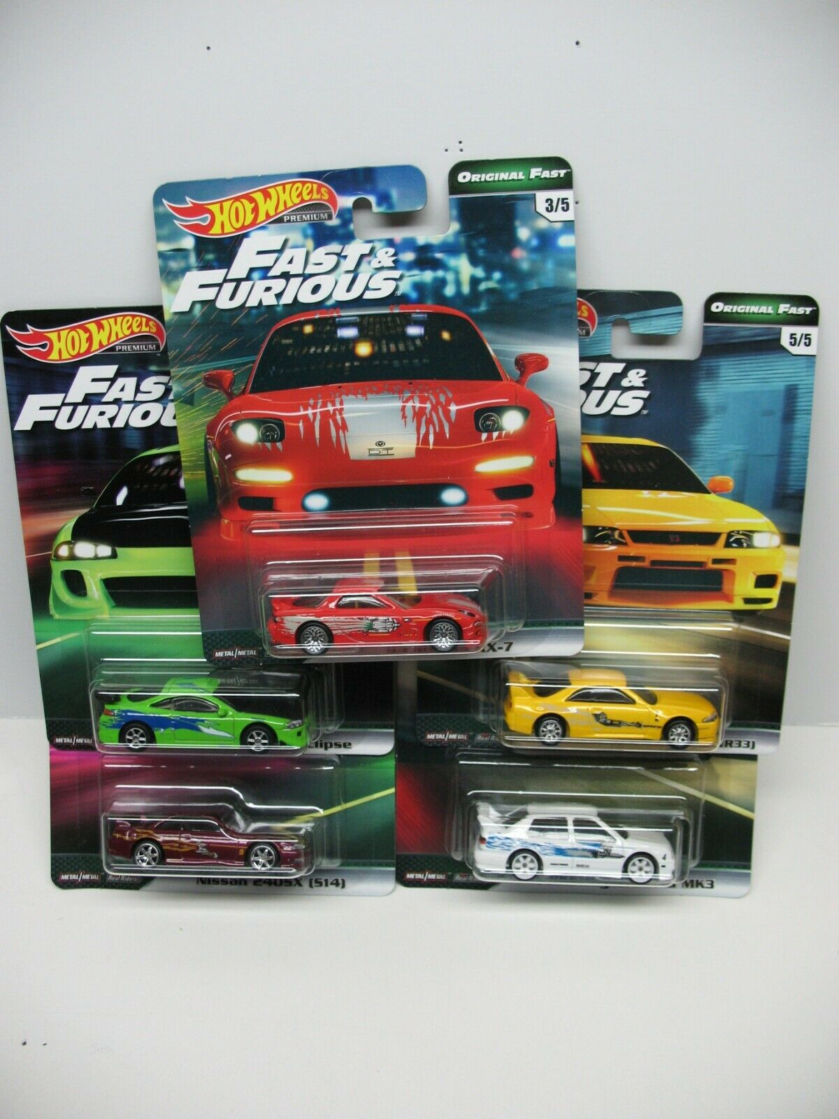 2019 HOT WHEELS PREMIUM FAST & FURIOUS ORIGINAL FAST NISSAN MAZDA VW MITSUBISHI