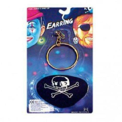 Costume per adulti Pirate Eyepatch e grande oro Orecchio Anello Accessorio