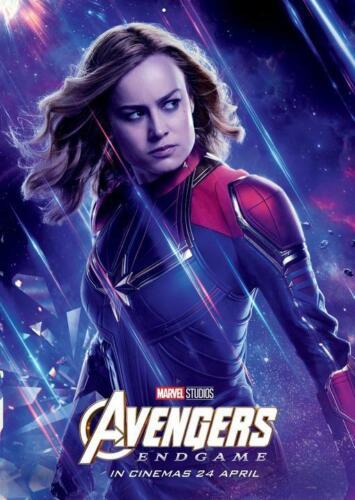 "Avengers End Game Movie Poster Captain Marvel Art Print 13x20/"" 24x36/"" 27x40/"""