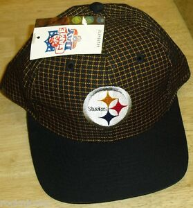 382db347 Image is loading Pittsburgh-Steelers-hat-Vintage-90s-Snapback-New-w-