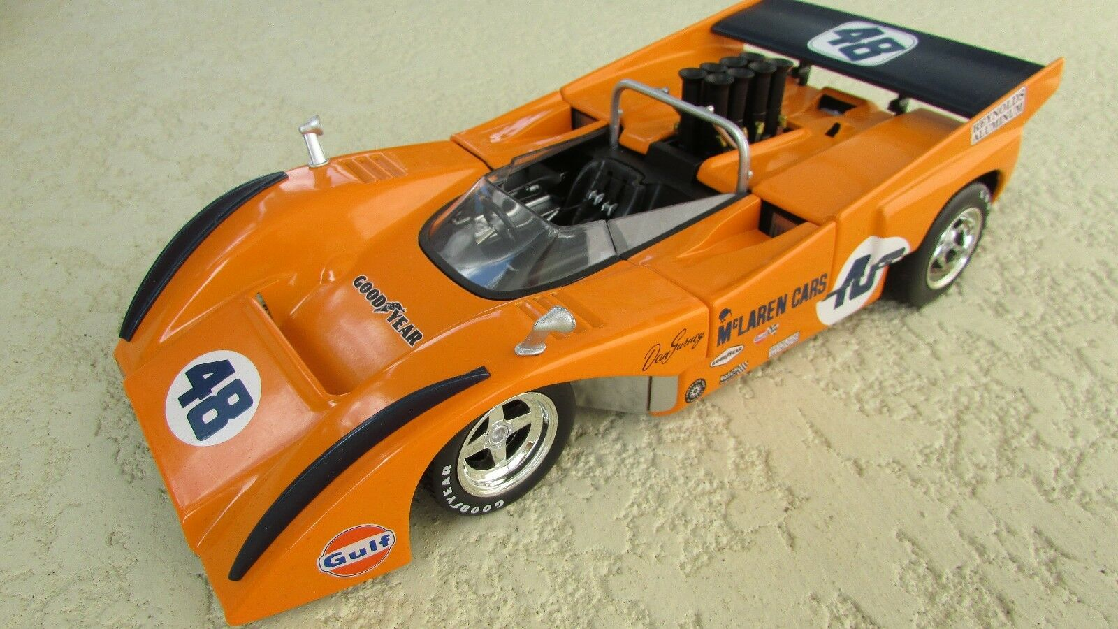 1 18 GMP 1970 McLaren M 8 D Dan Gurney Can Am Chevy Auto De Carrera Agotado Raro