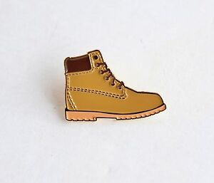 Image Is Loading Timberland Inspired Work Boot Gold Soft Enamel Lapel