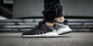 c5171433a Adidas Ultra Boost EQT Support 93 17 Black White Grey Size 13 ...