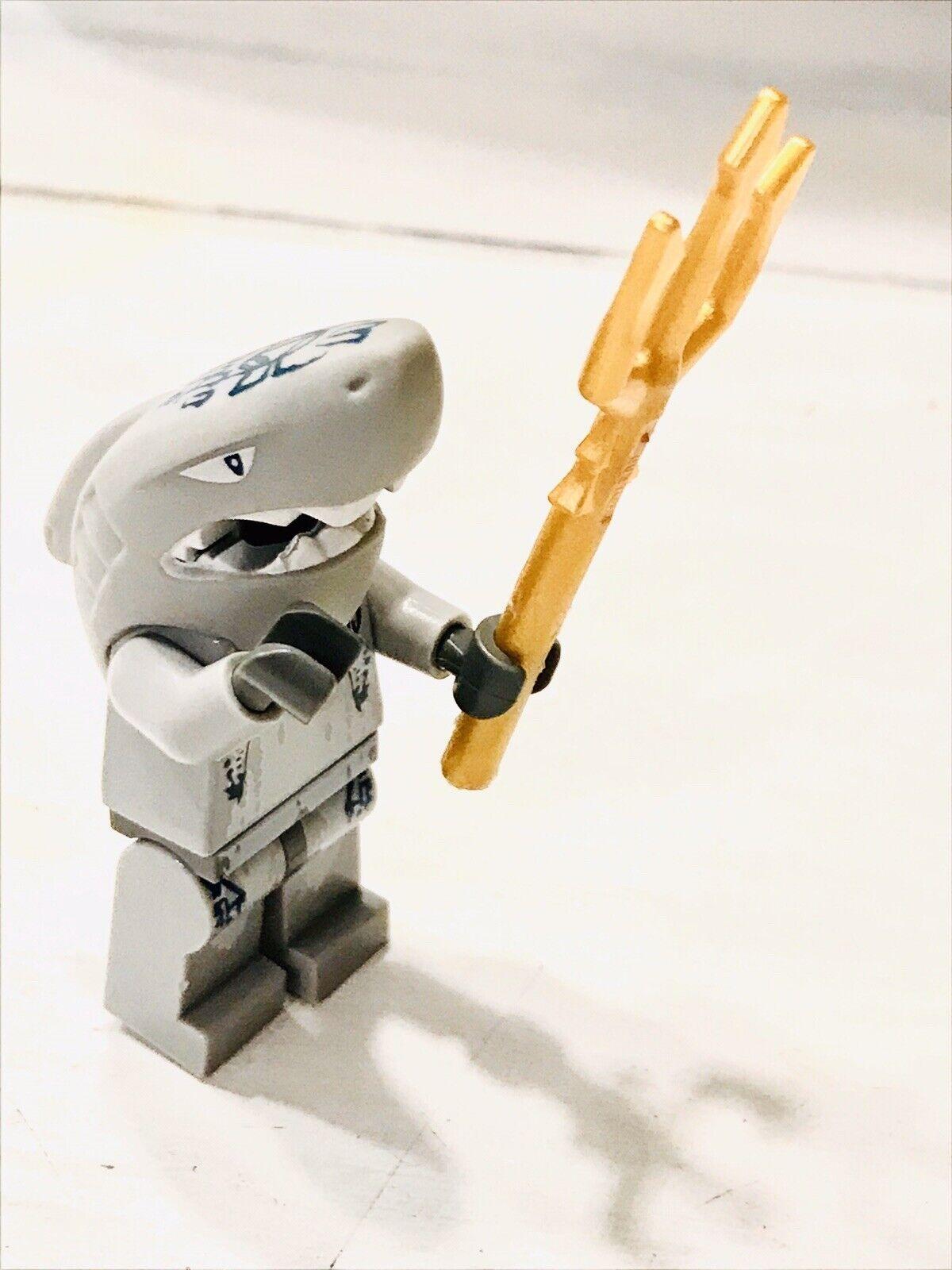 LEGO Minifigure Atlantis SHARK Head WARRIOR gold Trident Minifig Mini Figure