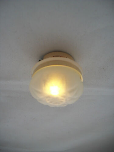 Light LED Frosted Ceiling Lamp 2338 replaceable battery dollhouse 1//12 scale